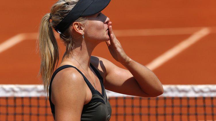 Maria Sharapova,mardi 29 mai 2012 à Roland-Garros. (JACQUES DEMARTHON / AFP)