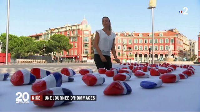 14-juillet à Nice : hommage aux victimes de l'attentat de la promenade des Anglais