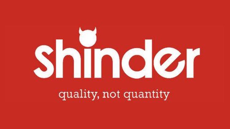 Le logo de Shinder, application de rencontres créée par l'humoriste britannique Shed Simove. (SHINDER)
