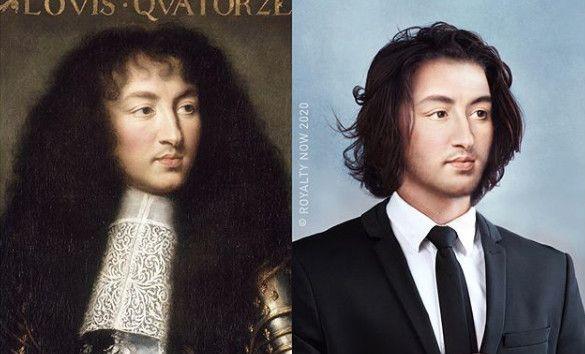 Le roi de France Louis XIV, imaginé au XXIe siècle. (© Royalty Now 2020)