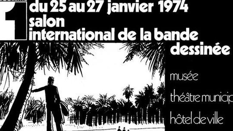 La 1ère affiche signée Hugo Pratt  (Festival International de la Bande Dessinée d'Angoulême)