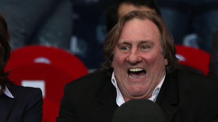 (Gérard Depardieu, amateur de foot, présent à chaque grande rencontre  © MAXPPP)