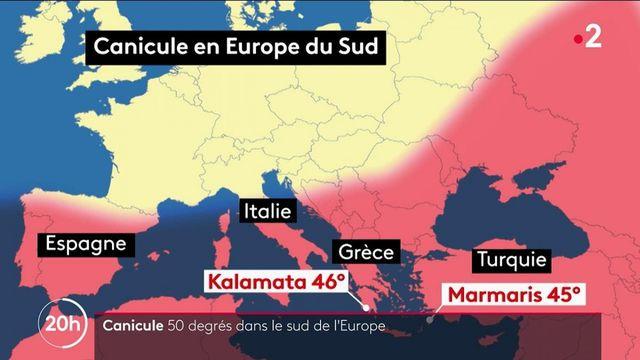 Canicule : les températures se hissent à 50 degrés dans le sud de l'Europe
