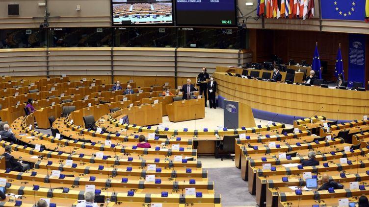 Le Parlement européen à Bruxelles (Belgique), le 9 juillet 2020. (DURSUN AYDEMIR / ANADOLU AGENCY / AFP)