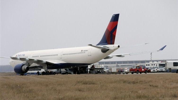 Un appareil de Delta a été immobilisé pendant plusieurs heures à l'aéroport de Delta le 27 décembre 2009 (Bill Pugliano - Getty Images/AFP)