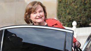 Nathalie Loiseau, encore ministre des Affaires européennes, quitte le palais de l'Elysée après avoir assisté à un Conseil des ministres, le 20 mars 2019 à Paris. (LUDOVIC MARIN / AFP)