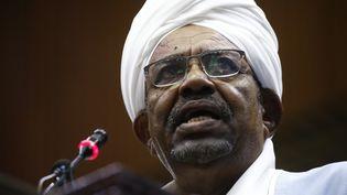 Omar el-Béchir, le 1er avril 2019 àKhartoum (Soudan). (ASHRAF SHAZLY / AFP)