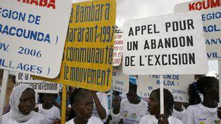 Une manifestation contre l'excision dans le village de Malicounda Bambara (Sénégal), le 5 août 2007. (GEORGES GOBET / AFP)