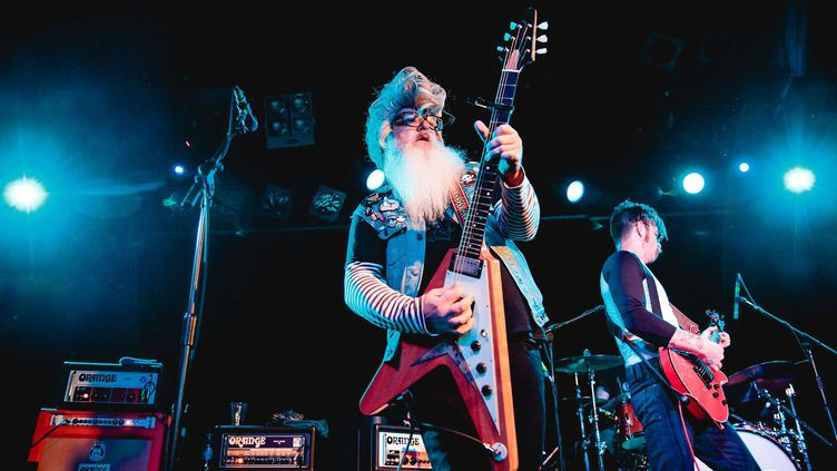 Les Eagles of Death Metal, ici le 31 octobre dernier, en concert en Angleterre.  (Danny Payne/REX Shutter/SIPA)