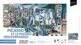 """Détail de la toile """"La baie de Cannes"""" Pablo Picasso, affiche de l'exposition (Musée d'Art de Toulon)"""