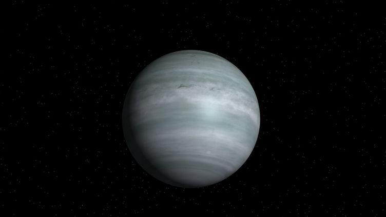Capture d'écran d'une représentation de l'exoplanète planète HD 8574 b sur le site de la Nasa. (NASA)