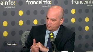 Jean-Michel Blanquer, ministre de l'Éducation nationale, le 22 octobre 2018. (RADIO FRANCE / FRANCEINFO)