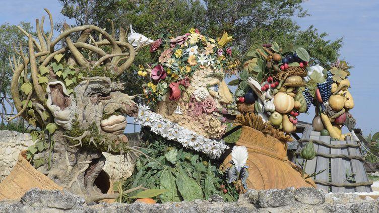 """Les géants d'Arcimboldo"" de l'artiste contemporain Philip Haas  (Culturespaces Benjamin Barda)"