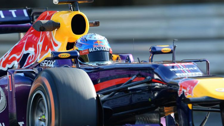 L'Allemand Sebastian Vettel au volant de sa Red Bull