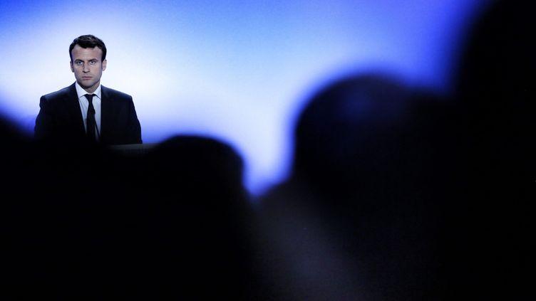 """Emmanuel Macron, à Paris le 23 mai 2016, lors de son discours sur la """"Nouvelle France industrielle"""" (MAXPPP)"""