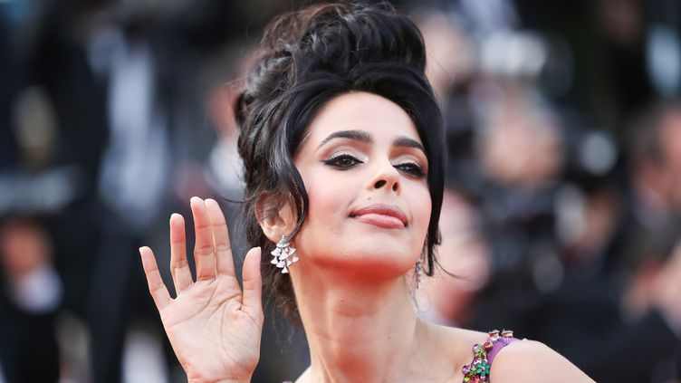 L'actrice Mallika Sherawat au festival de Cannes, le 24 mai 2017 (VALERY HACHE / AFP)
