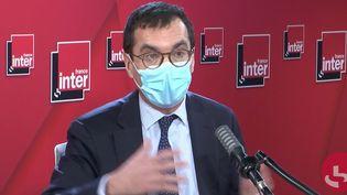Jean-Pierre Farandou, président-directeur général de la SNCF, le 19 janvier 2021 sur France Inter. (FRANCEINTER / RADIOFRANCE)