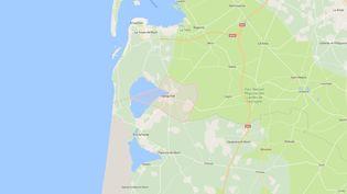L'accident a eu lieu sur la commune de Sanguinet (Landes). (GOOGLE MAPS)