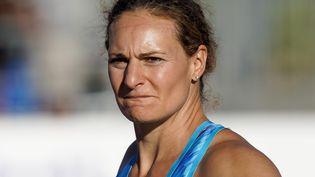 Mélina Robert-Michon lors du meeting international d'athlétisme de Marseille, le 3 septembre 2020. (TOMASELLI ANTOINE / MAXPPP)