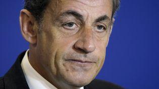 Nicolas Sarkozy au siège de l'UMP, à Paris,le 17 janvier 2015. (LIONEL BONAVENTURE / AFP)
