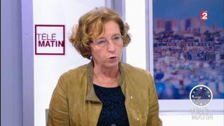 La ministre du Travail, Muriel Pénicaud, sur le plateau de France 2, le 15 novembre 2017. (FRANCE 2)