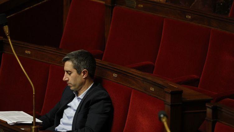 François Ruffin a vivement critiqué la méthode du gouvernementsur la réforme des retraites, le 28 janvier 2020 à l'Assemblée nationale. (GEOFFROY VAN DER HASSELT / AFP)