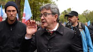 Jean-Luc Mélenchon lors de la manifestation contre la réforme des retraites le 24 septembre 2019. (MAXPPP)