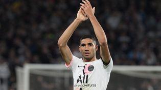 Achraf Hakimi a été le grand bonhomme de ce Metz-PSG, mercredi 22 septembre. (SEBASTIEN BOZON / AFP)