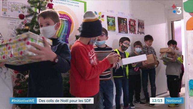 Noël : à Montpellier (Hérault), des colis pour les SDF