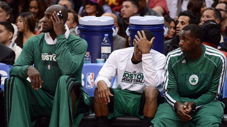 Garnett, Rondo et Bass incrédules face aux performances médiocres de leur Celtics