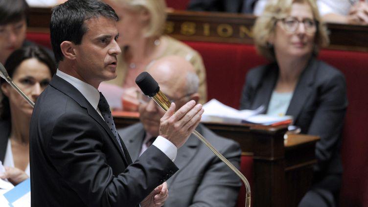 Manuel Valls à l'Assemblée nationale le 17 juin 2014 (DOMINIQUE FAGET / AFP)