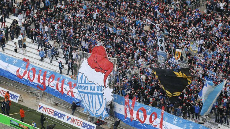 (Marseille a décroché dimanche le titre honorifique de champion d'automne en battant Lille 2-1 au Stade Vélodrome lors  de la 19e journée du Championnat de France © Maxppp)