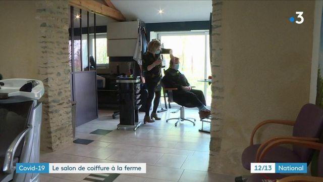 Covid-19 : un salon de coiffure à la ferme