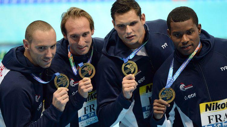 (Les Bleus ont été sacrés champions du monde sur le relais 4x100m © MAXPPP)