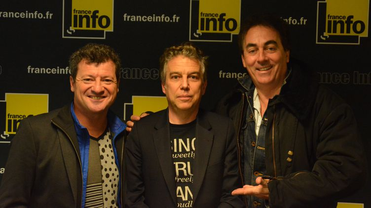 (Les Chevaliers du Fiel avec Philippe Vandel © Jean-Christophe Bourdillat - Radio France)