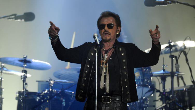 Johnny Hallyday en concert aux Francofolies à La Rochelle le 14 juillet 2015. (XAVIER LEOTY / AFP)