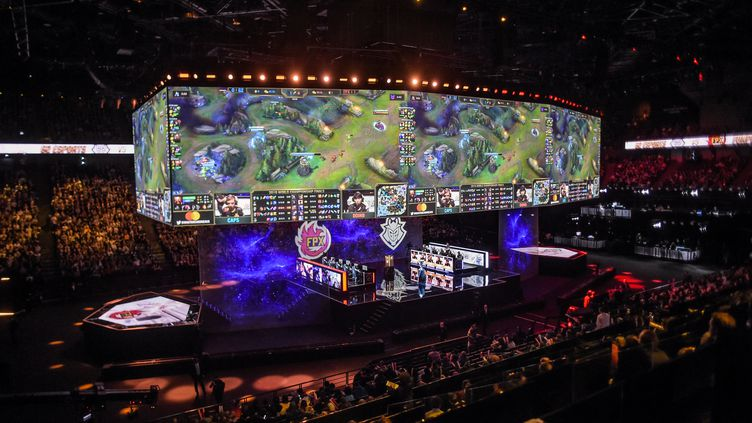 La finale des Worlds 2019 de League of Legends à Bercy (LUCAS BARIOULET / AFP)