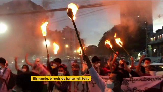 Birmanie : le pays sous tension, six mois après l'arrivée au pouvoir de la junte militaire