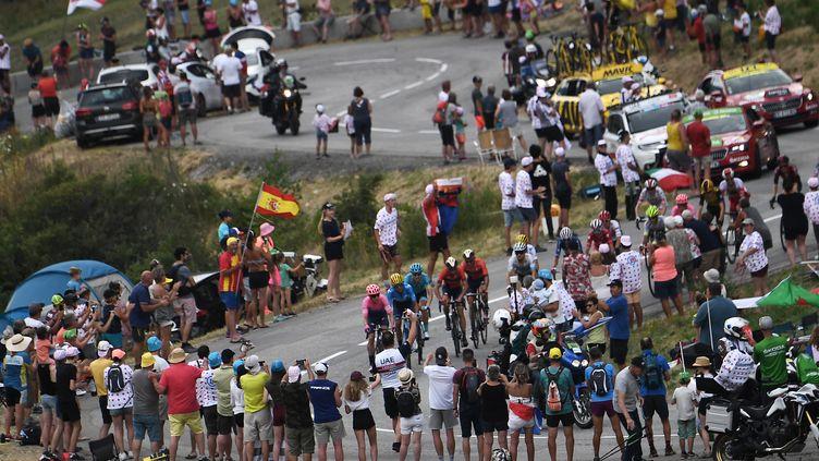 Le Tour de France arrive à Tignes, en Savoie. (Photo d'illustration) (JEFF PACHOUD / AFP)