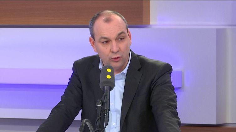 Laurent Berger, secrétaire général de la CFDT, invité éco de franceinfo le 8 janvier 2020. (FRANCEINFO / RADIOFRANCE)