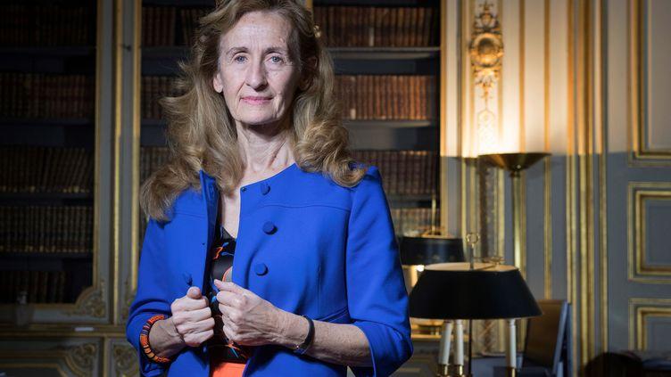 La ministre de la Justice, Nicole Belloubet, dans son bureau, à Paris, le 15 décembre 2017. (JOEL SAGET / AFP)