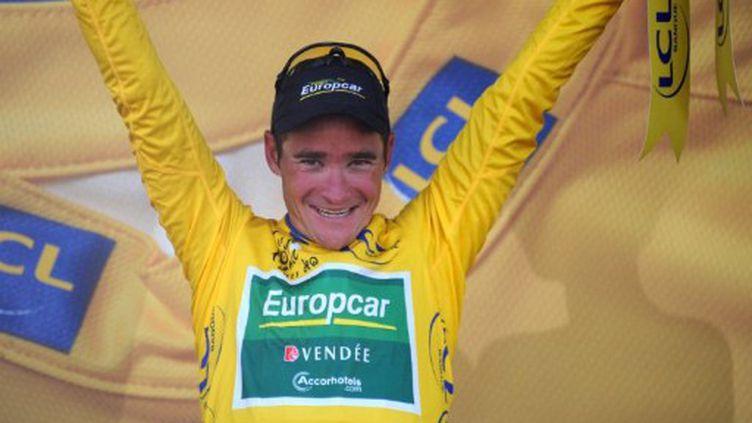 Thomas Voeckler, nouveau maillot jaune du Tour (PASCAL PAVANI / AFP)