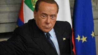 Silvio Berlusconi, le 22 août 2019, lors d'un point presse, àRome. (BARIS SECKIN / ANADOLU AGENCY)