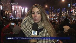 Les Champs-Élysées etaient bondés samedi soir. (FRANCE 3)