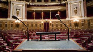 Hémicycle du Sénat à Paris vide, le 9 septembre 2014 (MAXPPP)