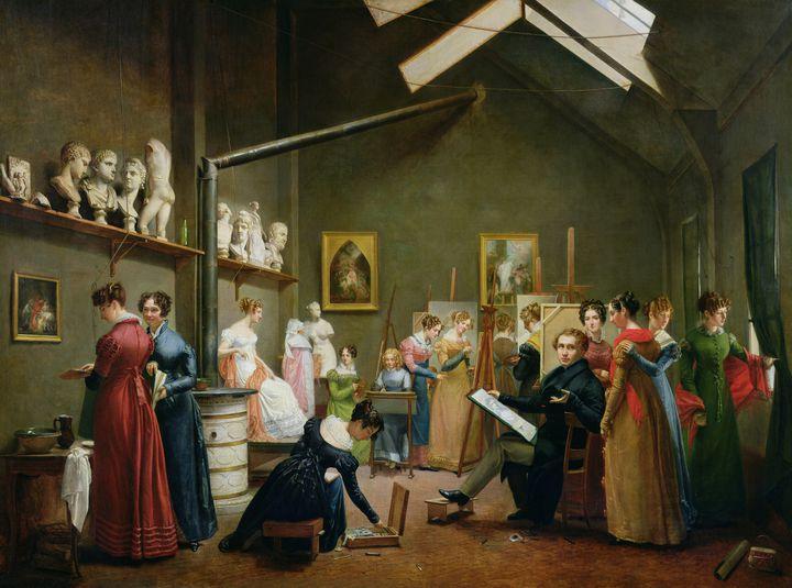 """Adrienne Marie Louise Grandpierre Deverzy, """"L'Atelier d'Abel de Pujol"""", 1822, Paris, Musée Marmottan Monet  (© Marmottan Monet, Paris, France / Bridgeman Images)"""