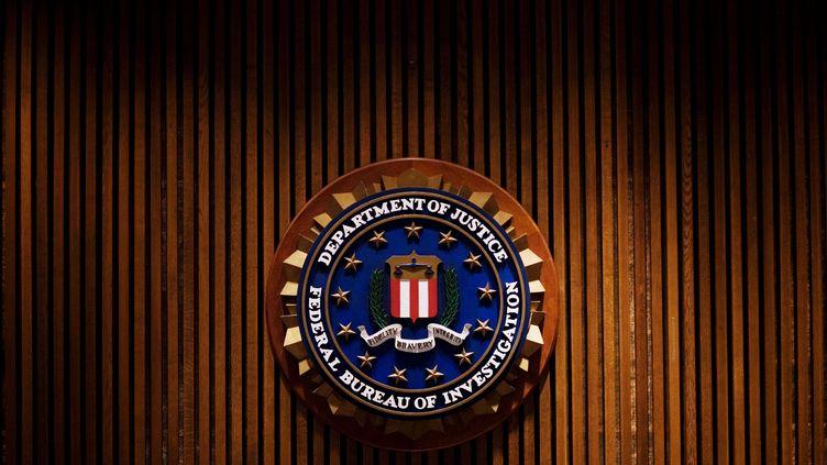 Le logo du FBI, le 3 août 2007, à Washington (Etats-Unis). (MANDEL NGAN / AFP)