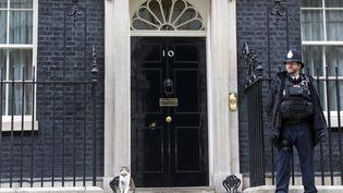 Le 10 Downing Street, résidence des Premiers ministres britanniques (JUSTIN TALLIS / AFP)