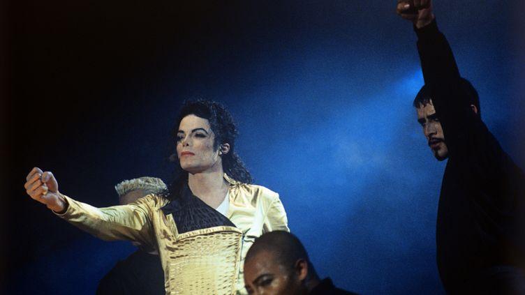 Michael Jackson, en 1993 à Moscou (Russie). (DMITRY KOROBEINIKOV / SPUTNIK)