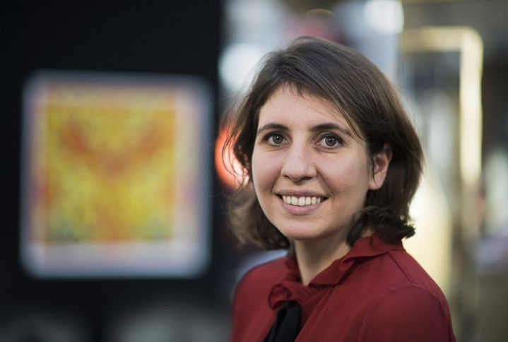 Victoria Mann, fondatrice de la Foire AKAA (Also Known as Africa). (ERIC FEFERBERG / AFP)